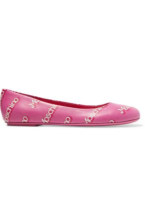 printed-leather-flats by moschino