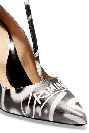 MOSCHINO Printed leather sandals