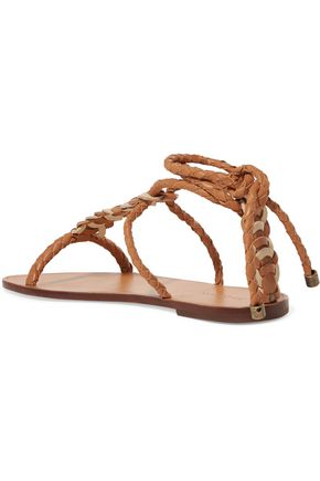 ZIMMERMANN Braided leather sandals