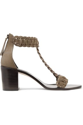 ZIMMERMANN Link Weave T-bar leather sandals