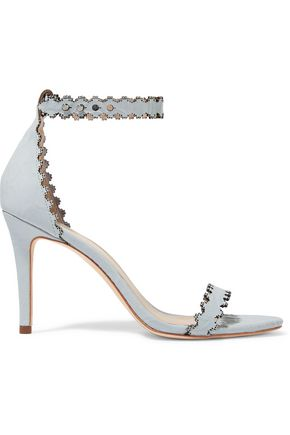 ZIMMERMANN Laser-cut embossed leather sandals