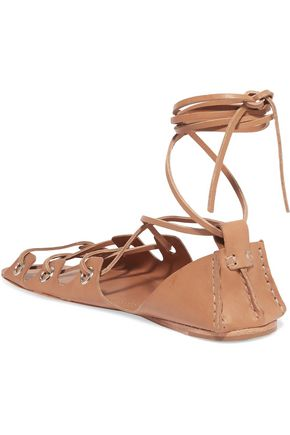 ZIMMERMANN Lace-up leather sandals