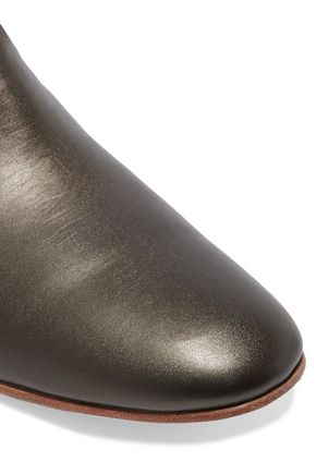 DIEPPA RESTREPO Troy metallic leather ankle boots
