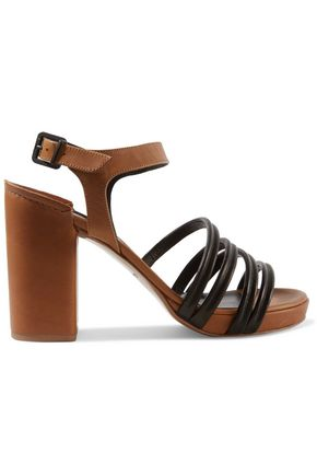 ROBERT CLERGERIE Two-tone leather sandals
