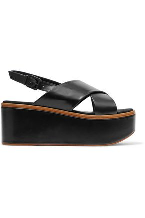 ROBERT CLERGERIE Leather platform sandals