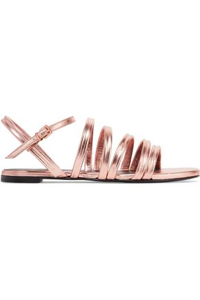 ROBERT CLERGERIE Gaga metallic leather sandals