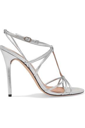 HALSTON HERITAGE Anita metallic leather sandals