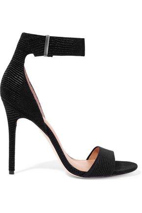 HALSTON HERITAGE Marley lizard-effect suede sandals