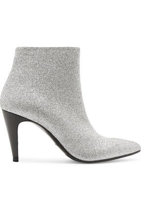 ROBERT CLERGERIE Metallic knitted ankle boots
