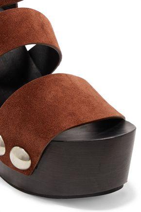 ALEXANDER WANG Tess suede platform sandals