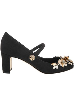 DOLCE & GABBANA Embellished jacquard Mary Jane pumps