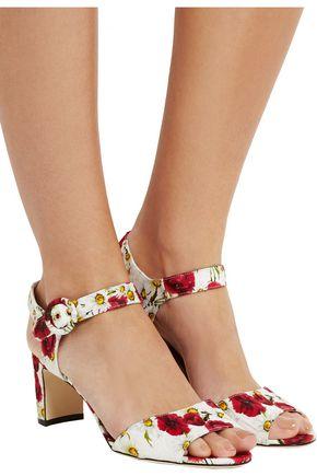 DOLCE & GABBANA Floral-print brocade sandals