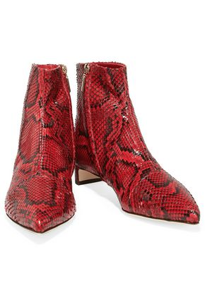DOLCE & GABBANA Snake-effect leather boots