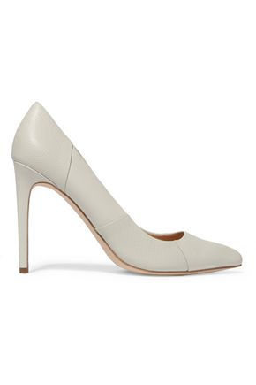 HALSTON HERITAGE Paneled leather pumps