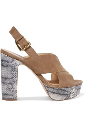 MICHAEL MICHAEL KORS Mariana suede platform sandals