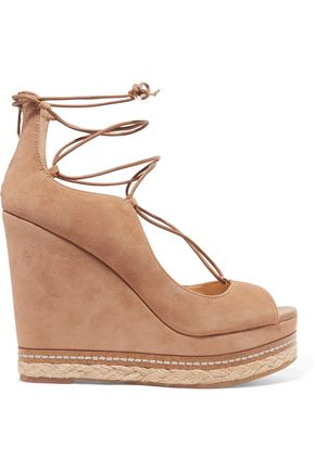 SAM EDELMAN Harriet suede espadrille wedge sandals
