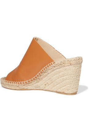 SOLUDOS Leather wedge espadrilles