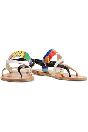 ANCIENT GREEK SANDALS + Peter Pilotto Alethea printed leather sandals