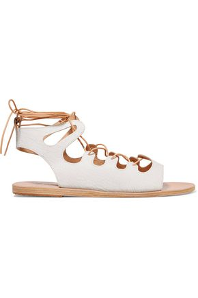 ANCIENT GREEK SANDALS Antigone lace-up leather sandals