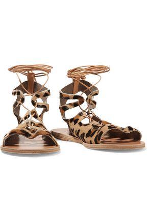 ANCIENT GREEK SANDALS Antigone lace-up suede sandals