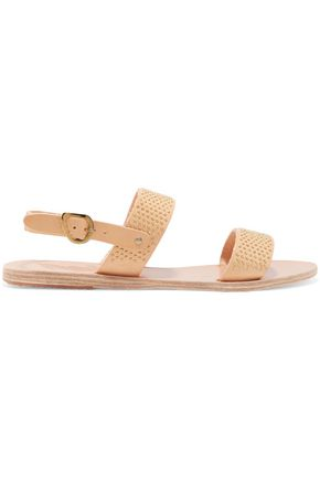 ANCIENT GREEK SANDALS Dinami embellished leather sandals