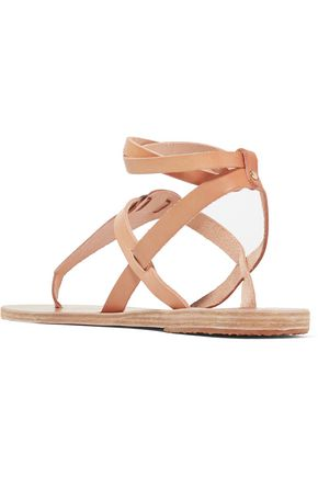 ANCIENT GREEK SANDALS Estia two-tone metallic leather sandals