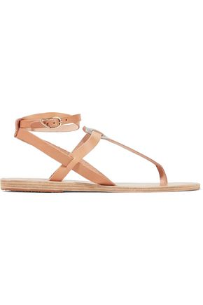 ANCIENT GREEK SANDALS Estia two-tone metallic leather sandals