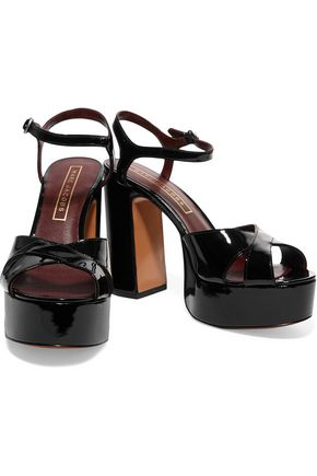 MARC JACOBS Debbie patent-leather platform sandals