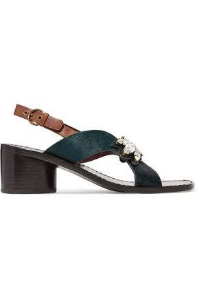MARC JACOBS Madison embellished calf hair sandals