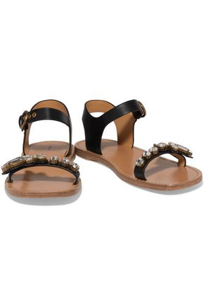 MARC JACOBS Rivington crystal-embellished leather sandals