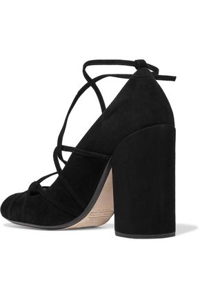 MARC JACOBS Carrie lace-up suede pumps