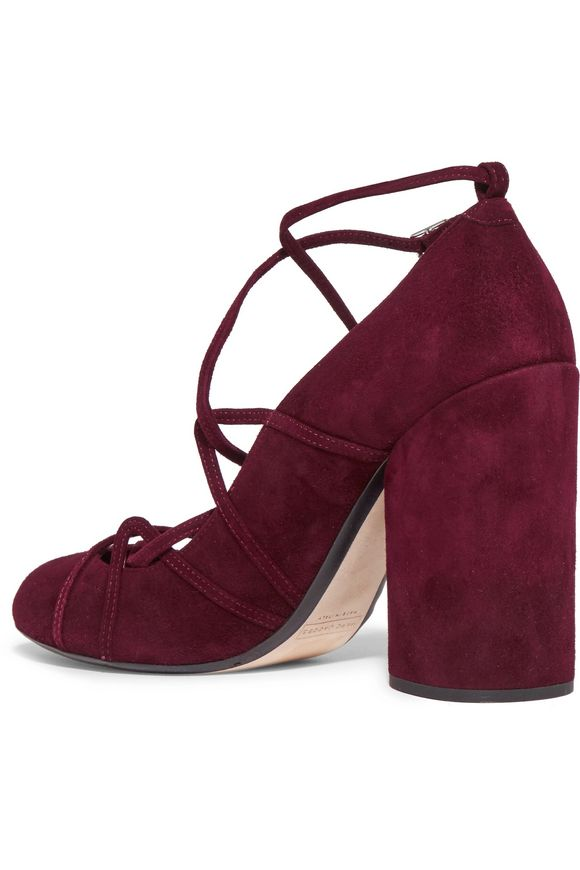 Carrie lace-up suede pumps   MARC JACOBS   Sale up to 70% off   THE OUTNET