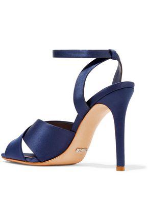 SCHUTZ Estrelina satin sandals