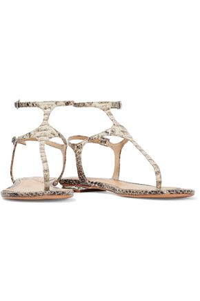 SCHUTZ Galey snake-effect leather sandals