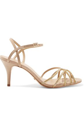 SCHUTZ Kalia crystal-embellished leather sandals