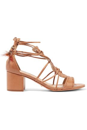 SCHUTZ Alianna lace-up knotted leather sandals