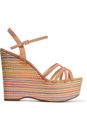 SCHUTZ Micaela cutout nubuck wedge sandals