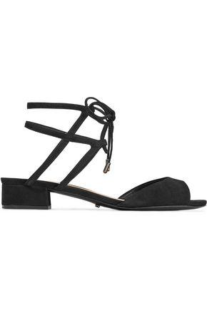 SCHUTZ Daniella lace-up cutout nubuck sandals