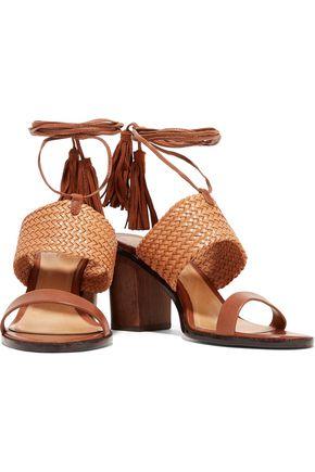 SCHUTZ Luky tasseled woven leather sandals