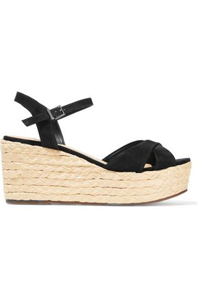 SCHUTZ Keisi suede wedge sandals
