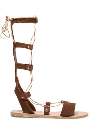 ANCIENT GREEK SANDALS Thebes lace-up calf hair sandals