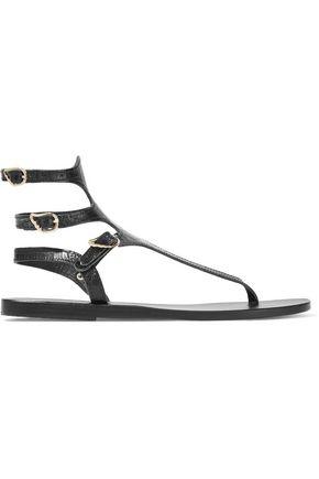 ANCIENT GREEK SANDALS Themis croc-effect leather sandals