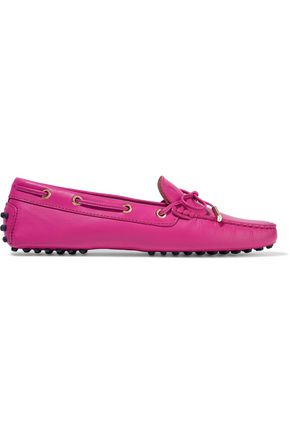 TOD'S Heaven bow-embellished leather loafers