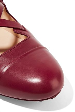 TOD'S Glossed-leather ballet flats