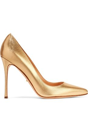 SERGIO ROSSI Cracked-leather pumps