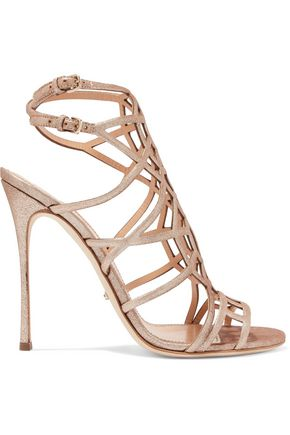 SERGIO ROSSI Stardustn metallic leather sandals