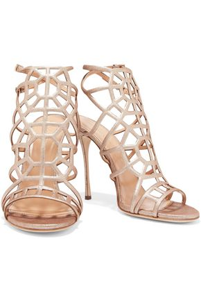 SERGIO ROSSI Stardustn metallic leather sandals