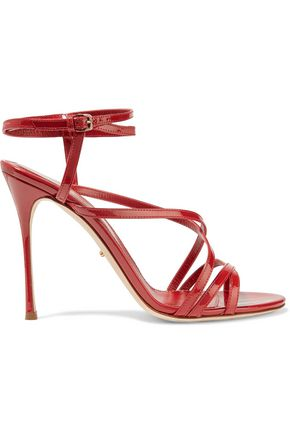 SERGIO ROSSI Patent-leather sandals