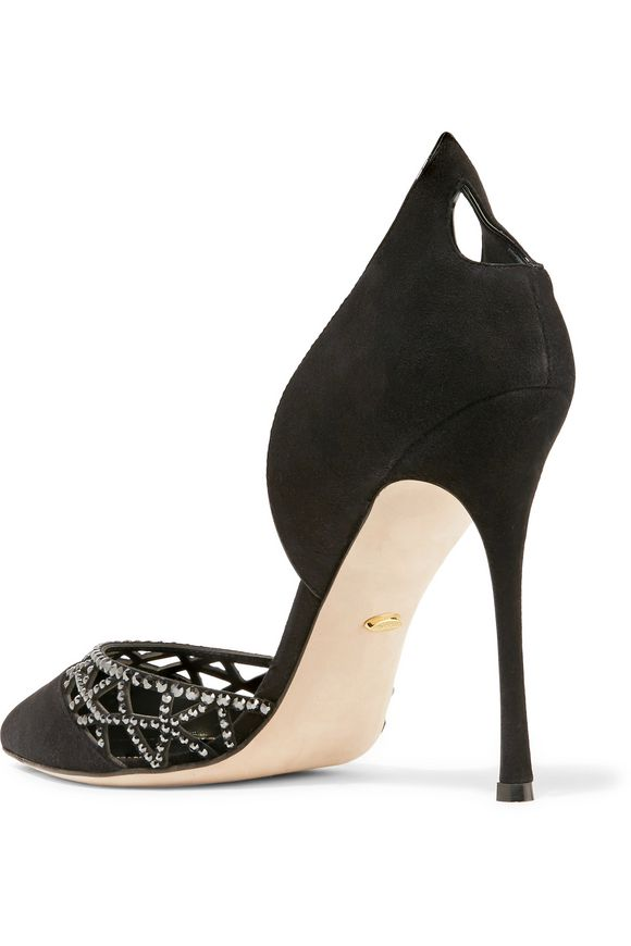 Crystal-embellished laser-cut suede pumps | SERGIO ROSSI | Sale up to 70%  off | THE OUTNET
