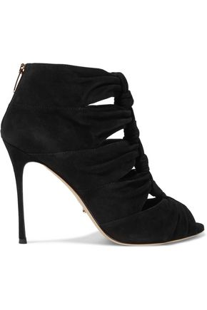 SERGIO ROSSI Royal knotted cutout suede boots